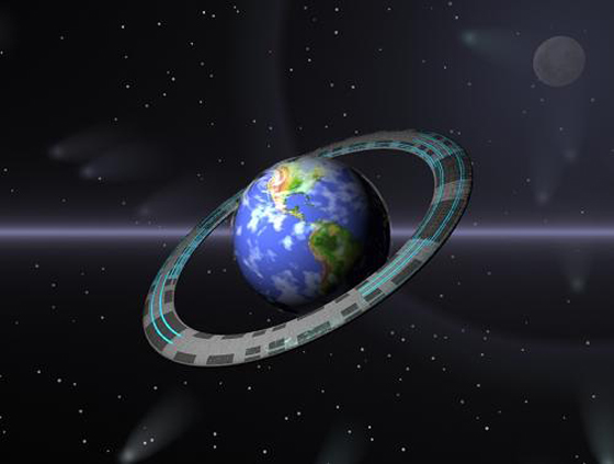 Earth With Ring
