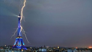 Eiffel Tower Lightning